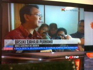 Wagub DKI Basuki Tjahaja Purnama. Lelang jabatan diilhami UU Aparatur Sipil Negara.