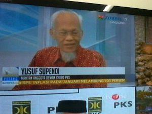 Yusuf Supendi, pendiri Partai Keadilan. PKS bakal gulung tikar?