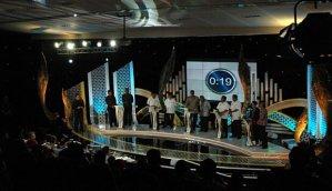 Panggung Debat Kandidat Menuju Jateng Satu. Mengedepankan unsur 'show'. (Foto: Tempo, twitter)