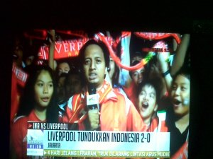 Fist ever Liverpool match at Indonesia. Pertandingan bersejarah.