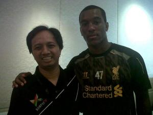 Bersama Andre Wisdom. Kali pertama ke Jakarta.