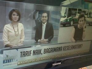 Eka Lorena saat dialog live di Kompas TV. Mencari solusi masalah transportasi.