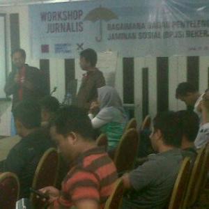 Workshop jurnalis BPJS. Sudahkah kita bekerja dengan tenang?