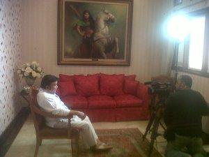 Mewawancarai Satria Bergitar di rumahnya, kawasan Mampang. Magnet baru kampanye PKB.