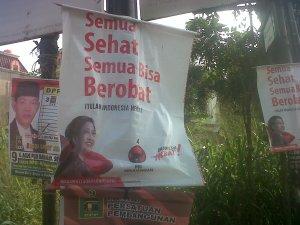 Salah satu poster Indonesia Hebat. Slogan baru PDI Perjuangan.