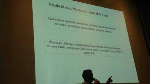 Weshley Hutagalunng dan presentasinya. Jurnalis olahraga, menghadirkan 'drama' penuh makna ke publik.