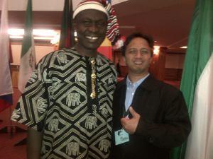 Bersama sahabat baru, Ishmael dari Nigeria. Berdoa melawan kekuatan teroris.