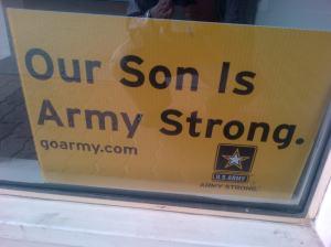 Tagline jadi tentara. Agar keluarga bangga.