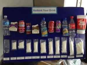 Berapa banyak kandungan gula dalam minumanmu? Kampanye kreatif.