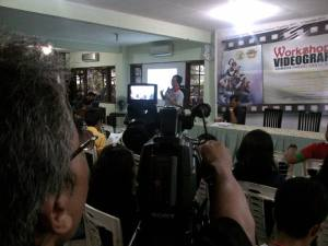 Workshop videografi Paroki Karawaci. Pengenalan audio visual pada gereja.