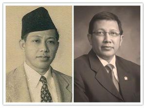 KH Saifuddin Zuhri dan Lukman Hakim Saifuddin. Ayah dan anak jadi menteri agama di era berbeda.