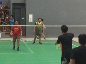 Bermain bulutangkis Mereka 2015 CT Corp di Taufik Hidayat Arena. Dua sosok visioner.