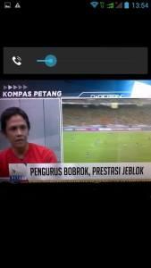 Panji Kartiko di Kompas TV. Mengawal sepak bola Indonesia.