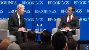 Jokowi di forum bisnis Washington DC. Mengetes menteri?