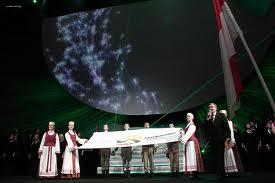 Pembukaan TAFISA Games 2012 di Lithuania. Olahraga rakyat.